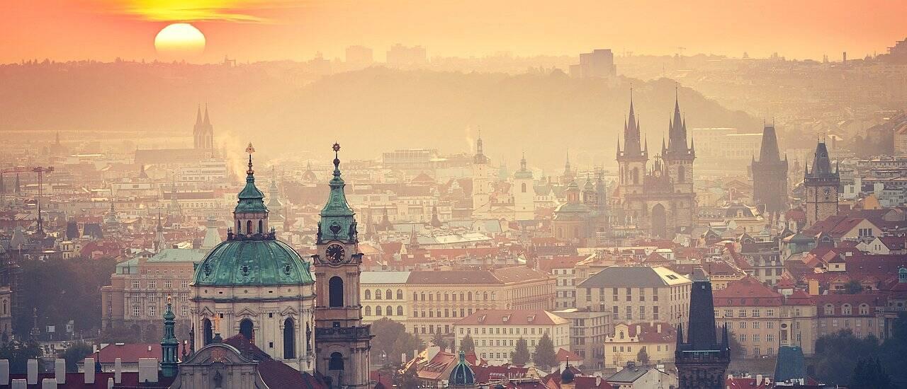 Europe tour skyline Prague